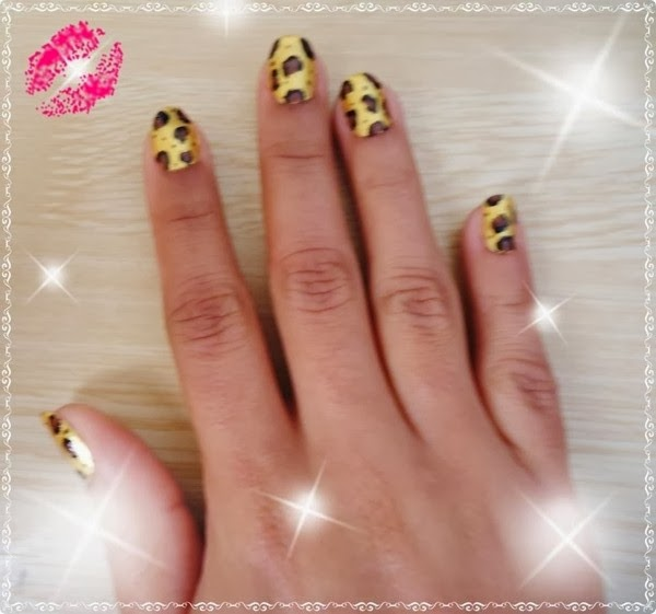 animal print unhas decoradas