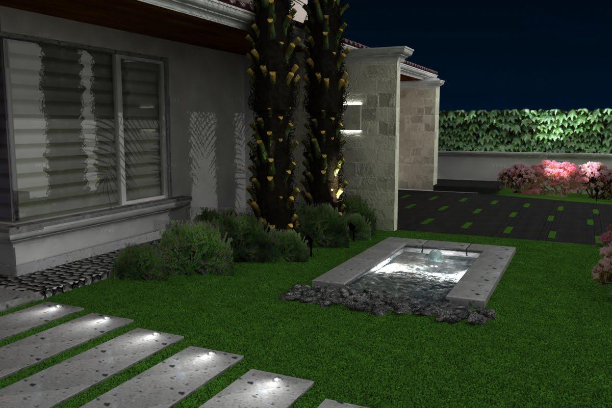 Estudio gl renders de dise o exteriores para casa habitaci n for Diseno jardines exteriores casa