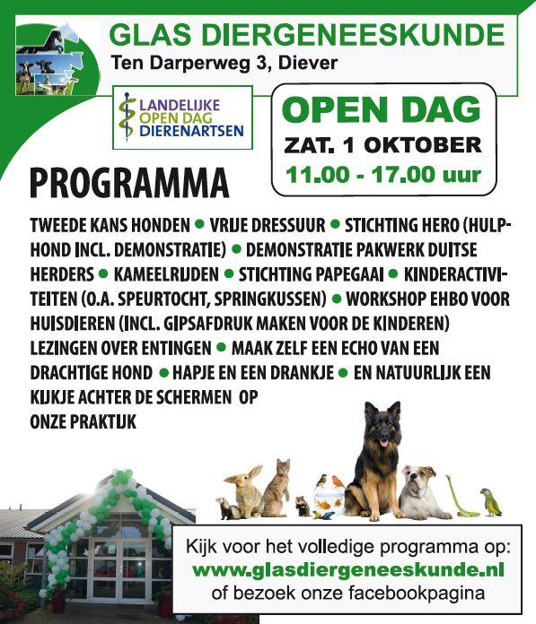 1 oktober Open Dag
