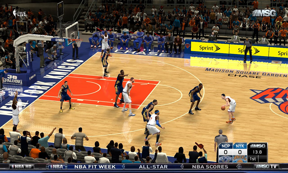 NBA 2K14 PC Mod MSG TV Presentation