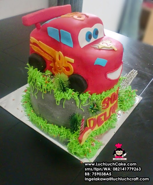 Kue Tart Ulang Tahun 3D Cars Lighting Mc Queen Daerah Surabaya - Sidoarjo