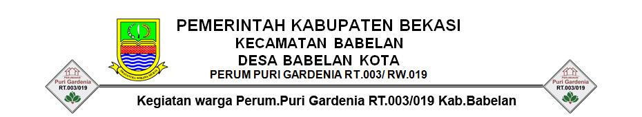 Kegiatan warga Perum.Puri Gardenia RT.003/019 Kab.Babelan