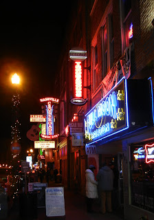 Broadway street in Nashville, TN