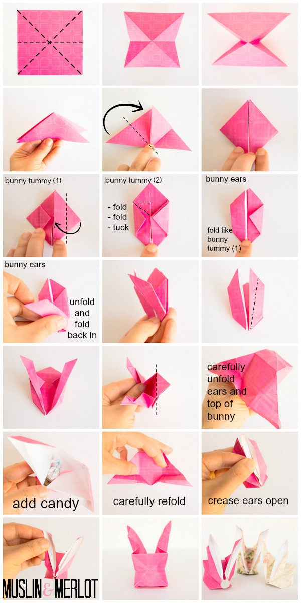 Origami Money Bunny Muslin And Merlot