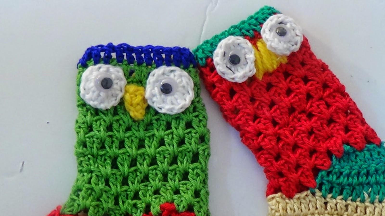 The Crochet World: Crochet owl christmas stocking