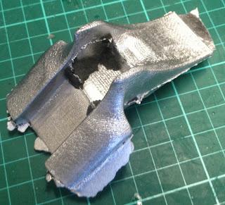 raw aluminium parts