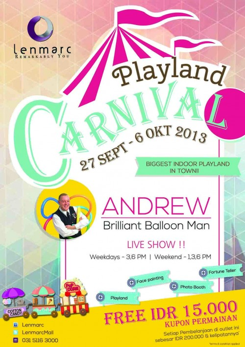 Lenmarc Playland Carnival | Andrew The Brilliant Balloon Man Live Show