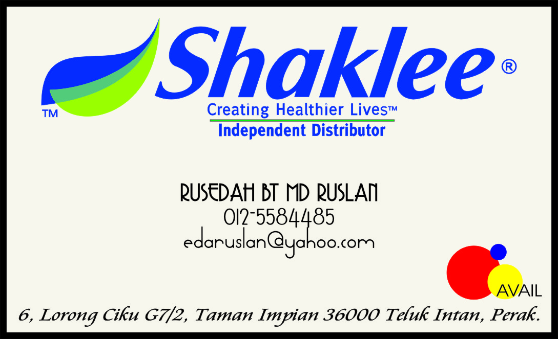 All u need is here business card order for Shaklee business cards