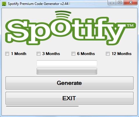 Spotify Premium Code Generator 2013