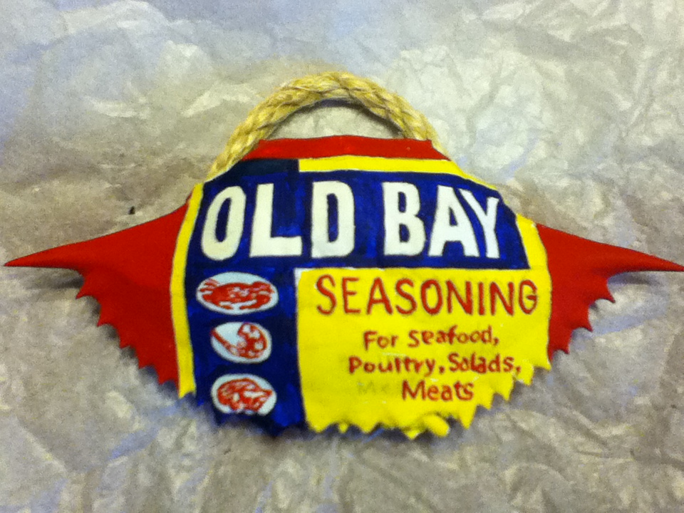 The Old Bay crab shell