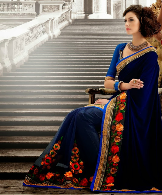Banarasi Silk Saree Dresses 2013-14 For Women & Girls