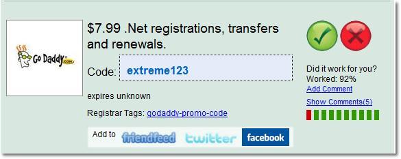 Godaddy Domain Renewal Promo Codes
