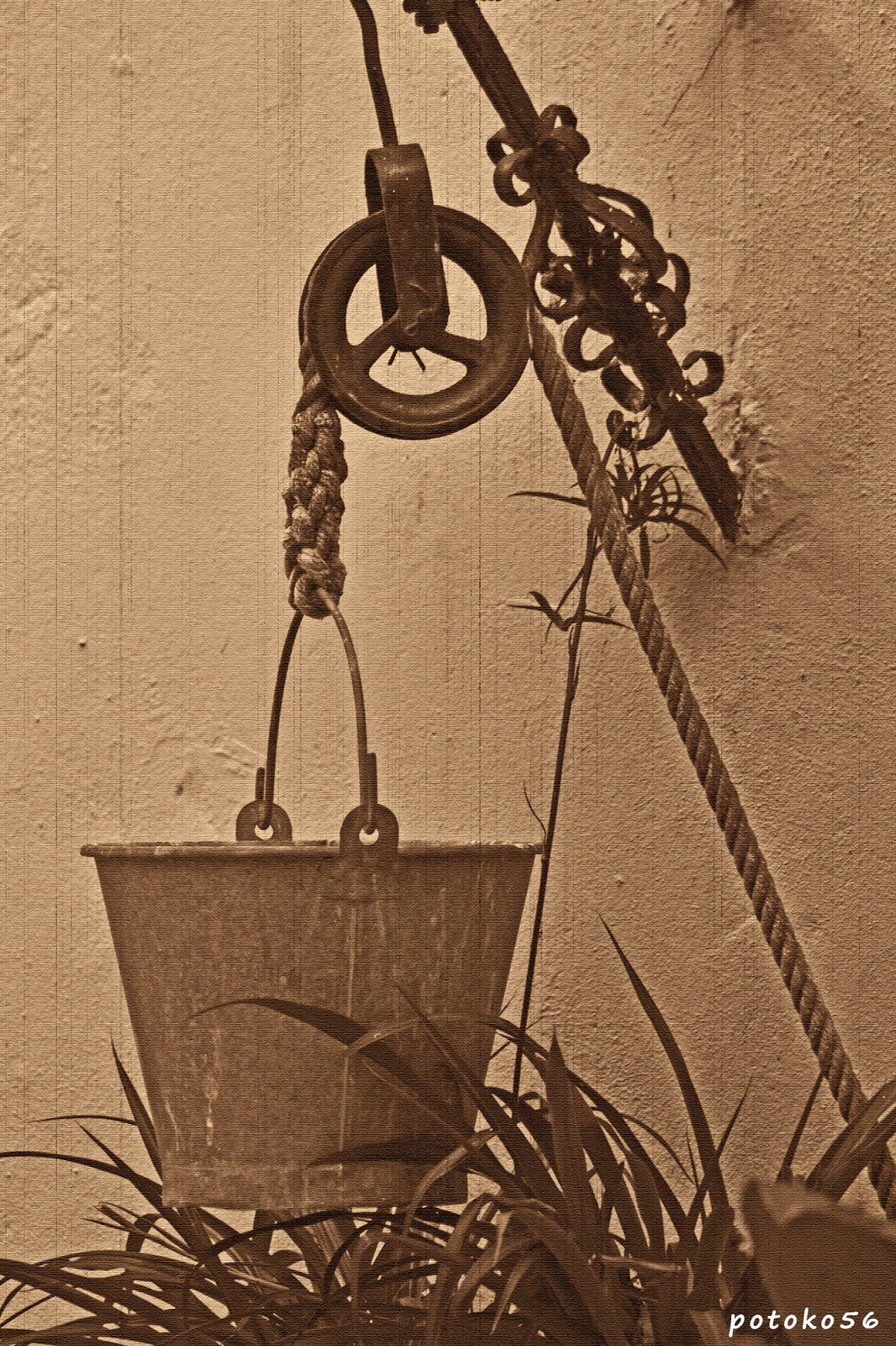 Brocal del Pozo o Aljibe en la Parroquia de La O Rota