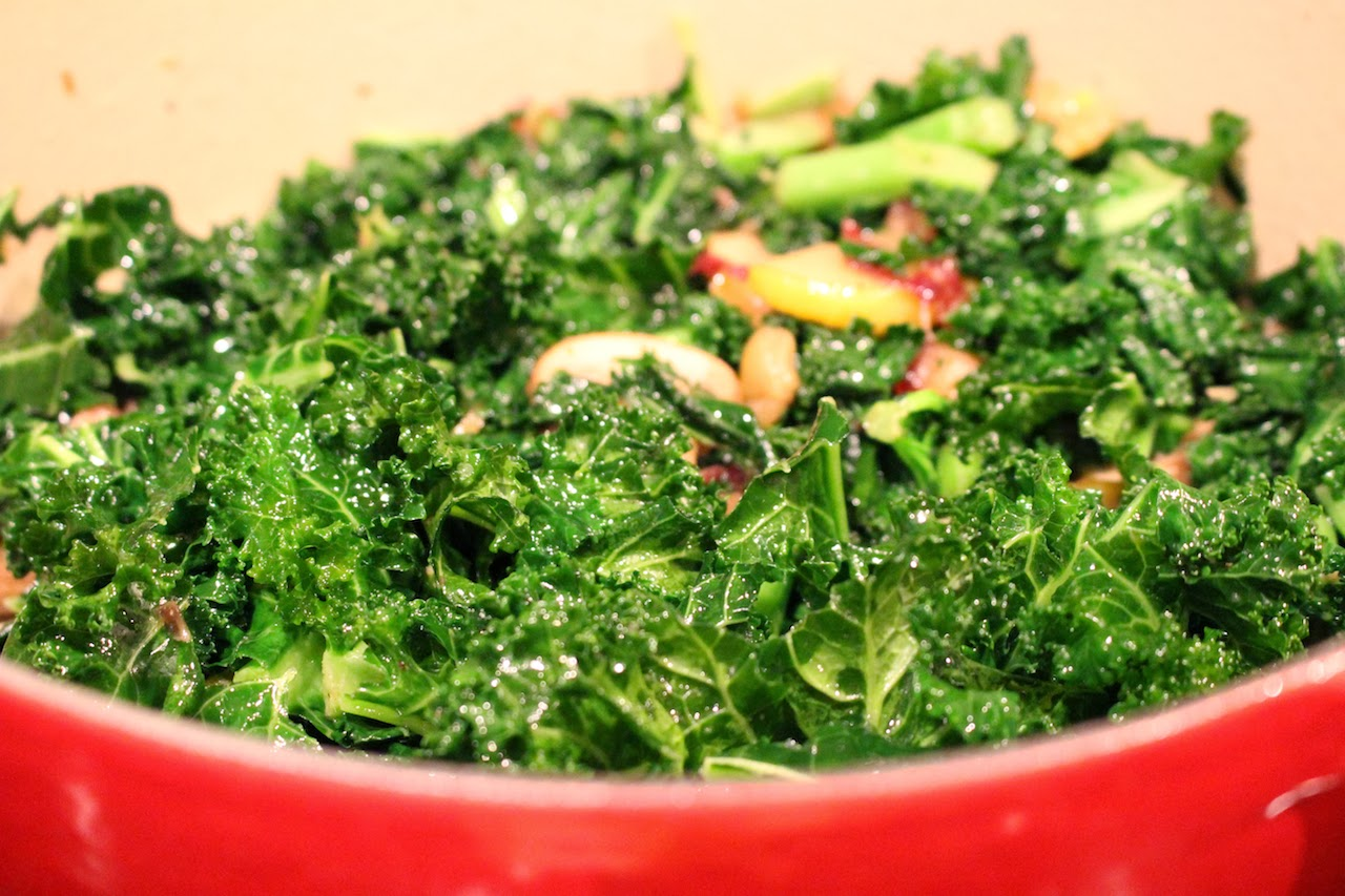 Warm kale salad recipe | The Fit Girl's Kitchen