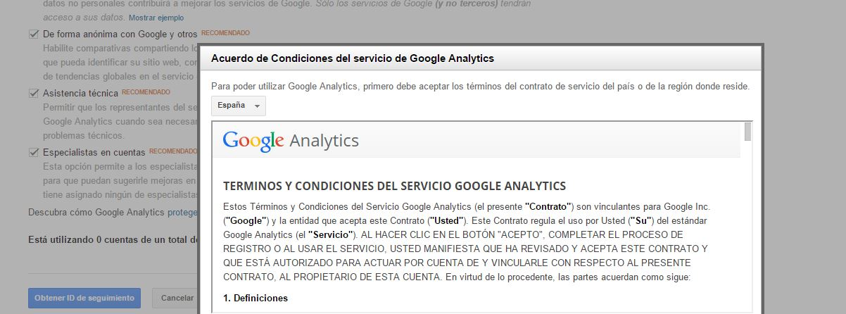 Pasos de Google Analytics 5