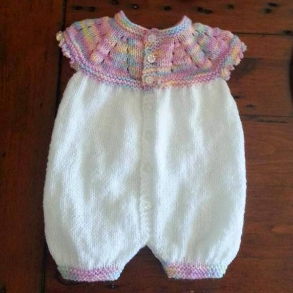 Knitted All In One Baby Suit Pattern : mariannas lazy daisy days: Top Down All-in-One Romper Suit