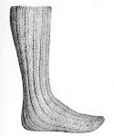 Men's Long Wool Socks Pattern $1.95
