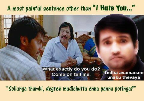 Only 4 Funny : Best santhanam jokes about exam in tamil language