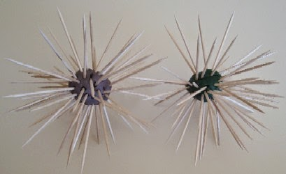Sea Urchin Craft for preschoolers
