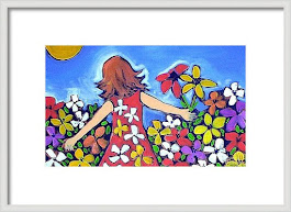 Garden of Joy Framed Print
