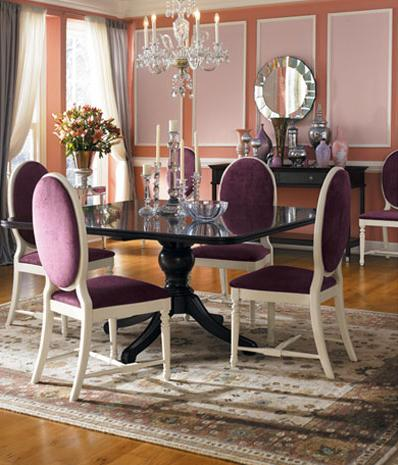 Beautiful purple dining room design for Dining room ideas purple