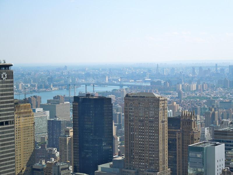 Rockefeller Center Williamsburg bridge view