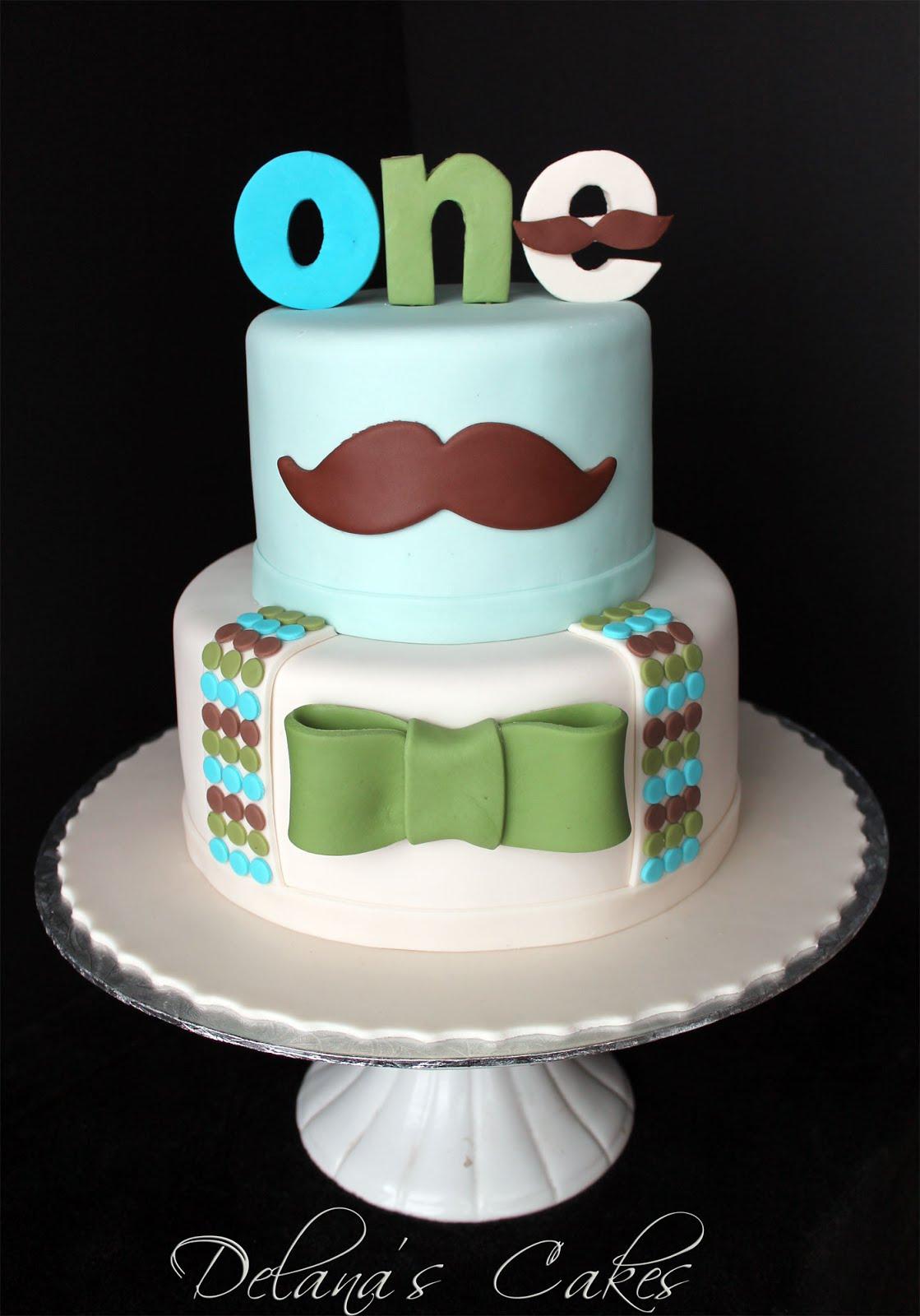 Delana S Cakes Little Man Mustache Cakes