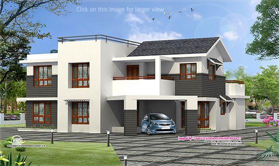 Contemporary villa design from kannur kerala kerala for Kerala house plans 3000 sq ft