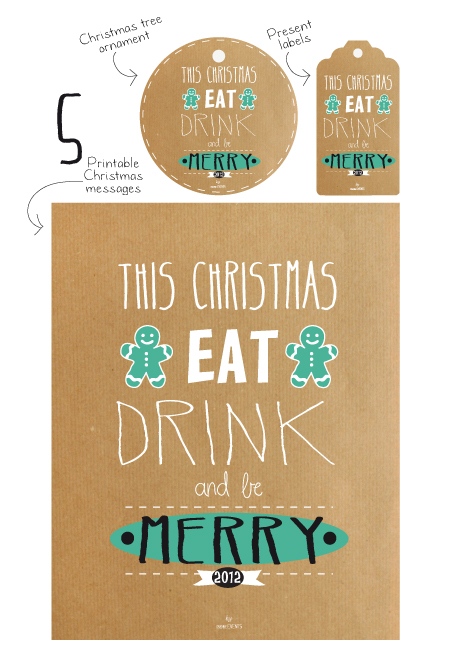 Eat, drink and be merry printable