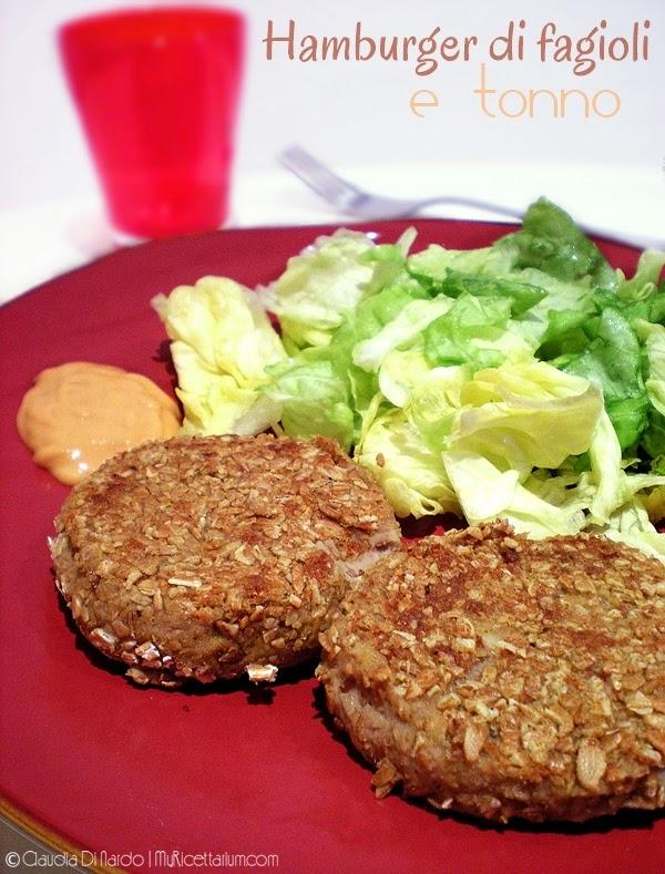 hamburger di fagioli e tonno