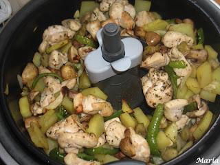 Pollo con Verduras en Actifry