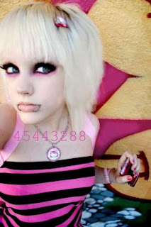Blonde Emo Hairstyles for Girls 2012