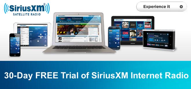 Siriusxm free 30 day trial