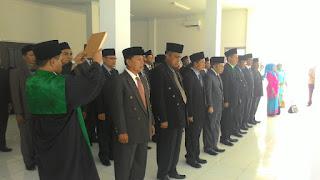 Walikota AJB Lantik Puluhan Pejabat