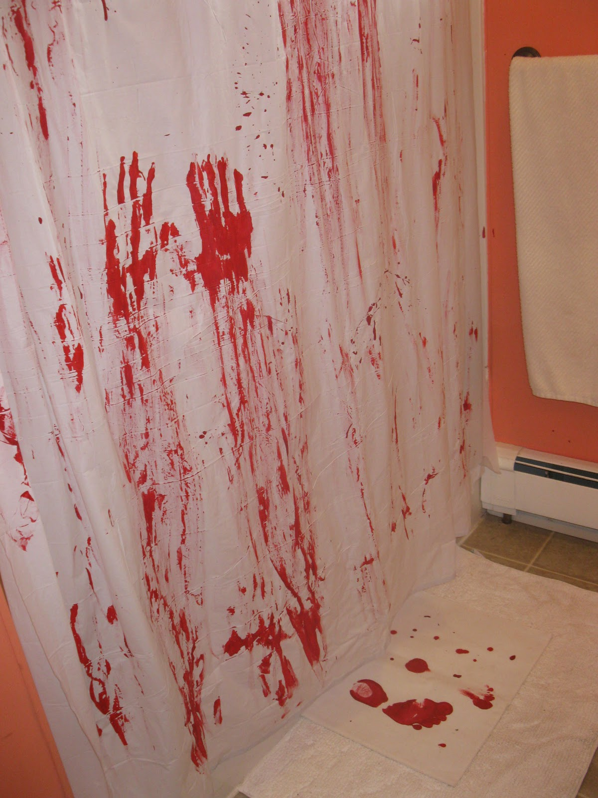 ... You Make it...: Day 25 of 31 Day Spooktacular- Bloody Shower Curtain