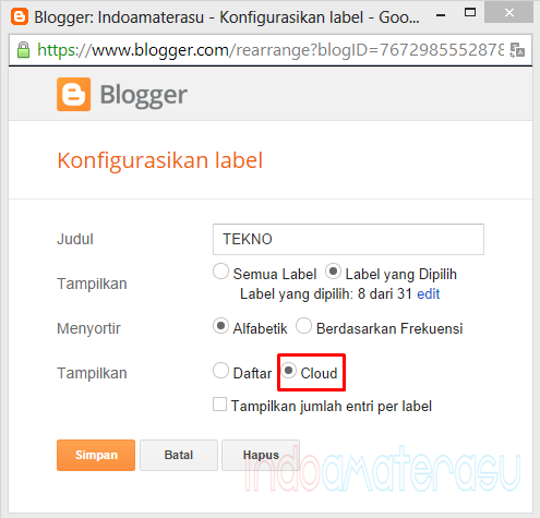 Custom Label Cloud Blogger Keren 2