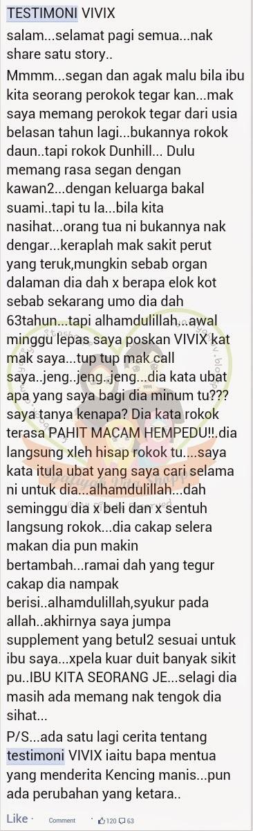testimoni vivix berhenti merokok