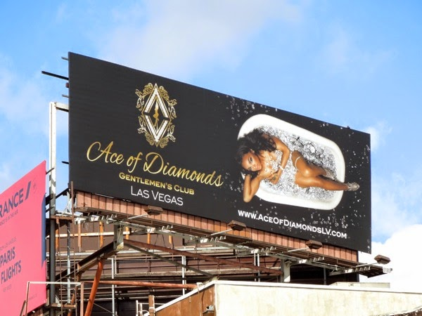 Ace of Diamonds Gentleman's Club Vegas bathtub billboard