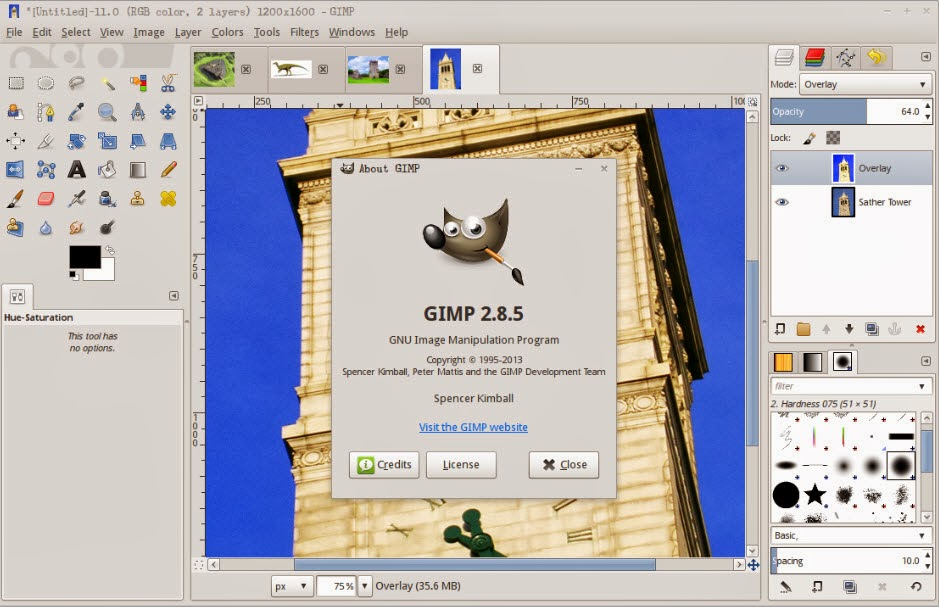 GIMP  (مجانا، OS X، وندوز، لينكس)