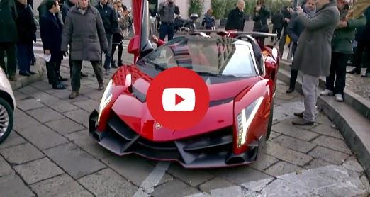 Lamborghini Veneno Roadster - 3,3 M € Hypercar sur la route