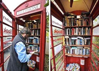 Foto de la librería de cabina telefónica