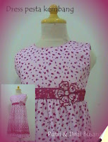 dress pesta anak motif kembang