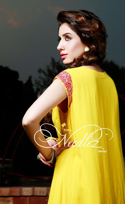 Here is lovely three piece semi formal wrap around dress in bright