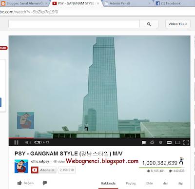 PSY - GANGNAM STYLE Youtube'de 1 Milyar İzlenmeye Ulaştı