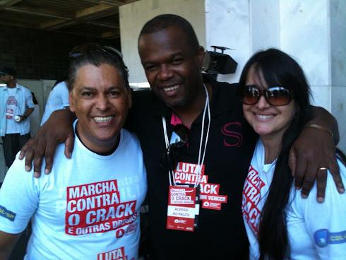 Moisés Di Souza, Cris do Morro e Marta Lança na Marcha Contra o Crack e Outras Drogas