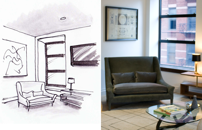 Interior Design, Sketch to Completion