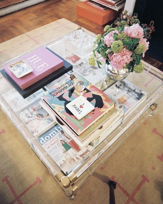 the peak of très chic: coffee table styling