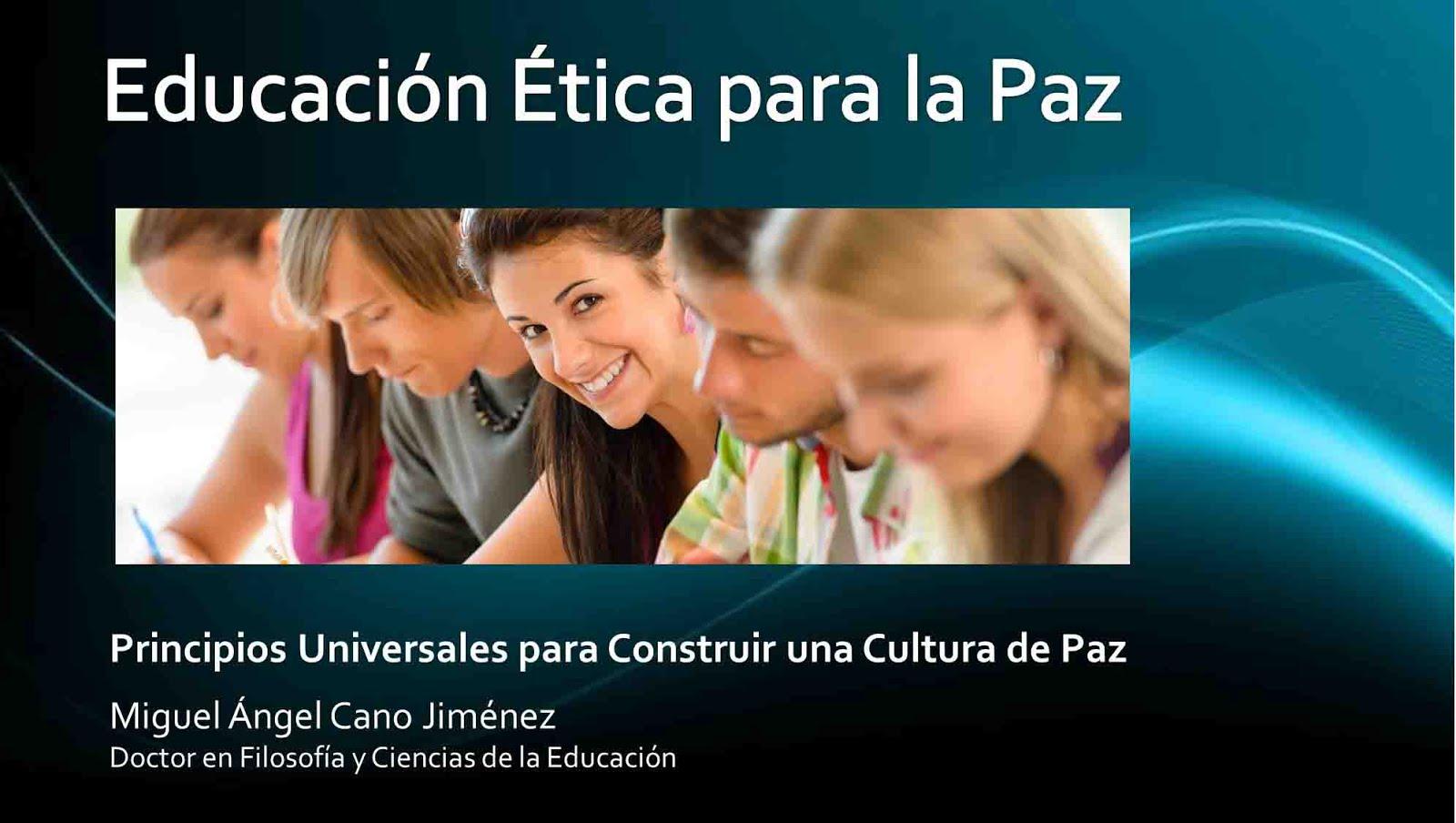 Educación Ética para la Paz libro completo