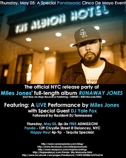 Miles Jones Plays Free Record Release Show Tomorrow, May 5th, at Panda Bar