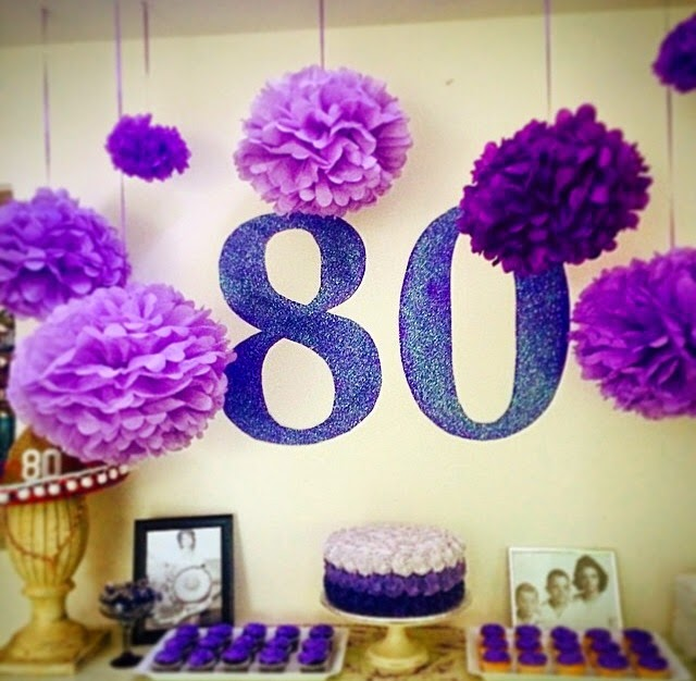 Southern fit 80th birthday party decor for 80 birthday decoration ideas